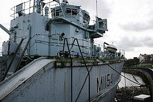 HMS Kellington (M1154) - Image: TS Kellington, River Tees geograph.org.uk 366945
