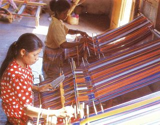 Tais traditional woven textile of East Timor