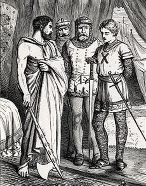 Aroldo - A scene from Walter Scott's The Talisman