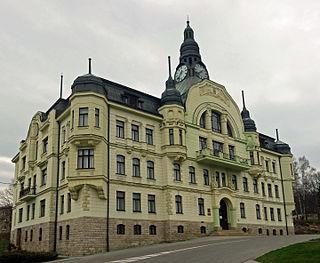 Tanvald Town in Liberec, Czech Republic