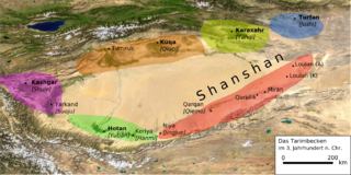 Ancient Iranian oasis kingdom in contemporary China