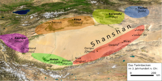 Kucha - Tarim Basin in the 3rd century