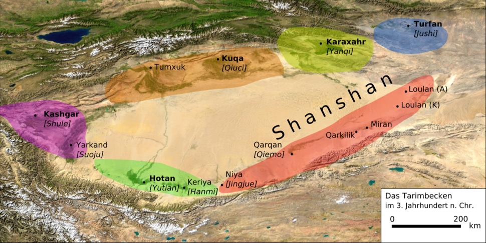 Tarimbecken 3. Jahrhundert