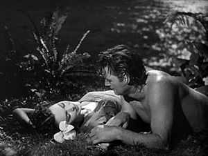 Maureen O'Sullivan & Johnny Weissmuller in Tar...