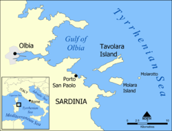 Location of Tavolara