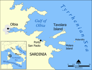 Kingdom of Tavolara - Image: Tavolara Island map