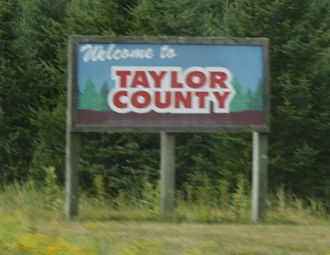 Taylor County, Wisconsin - Welcome sign on STH 13