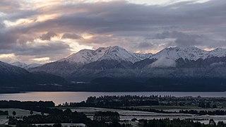 Te Anau Town in New Zealand