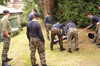 Britannia Royal Naval College - Image: Team Building At BRNC