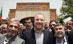 Tehran Mayor Mohammad Bagher Ghalibaf in opening of Khaje Abdullah Ansari Metro Station 01.jpg