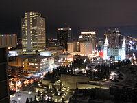 Temple Square Salt Lake City east end at Christmas time.jpg