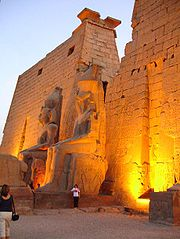 Luxor Temple: colossal statues of Ramesses II