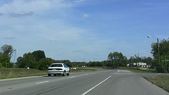 Tennessee State Route 76 - This is a somewhat random picture of Tennessee State Route 76 in Clarksville, Tennessee. The stretch between US Route 41A and Interstate 24 (Exit 11) is a four-lane divided highway.