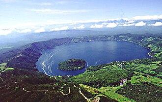 Coatepeque Caldera - Aerial view of Lago Coatepeque