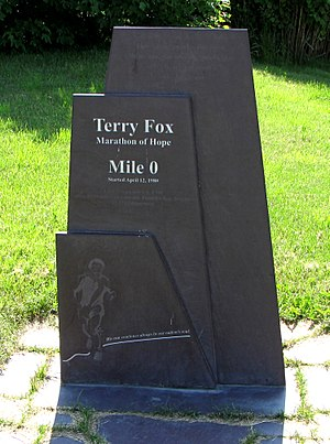 Terry Fox - Memorial at Mile 0 in St. John's