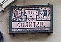 Teruel, Placa calle Chantria.jpg