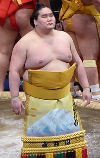 Terunofuji Haruo Mongolian sumo wrestler