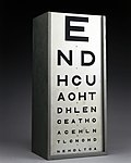 Test type to test eyesight, England, 1920-1960 Wellcome L0058205.jpg
