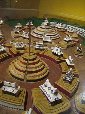 Teuchitlan tradition - A reconstruction of 'Circle 2' (in foreground) and 'Circle 1' at Guachimontones