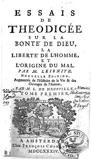 Théodicée - Théodicée title page from a 1734 version