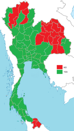 Thai constitutional referendum, 2016 result by provinces (Charter).png