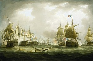 HMS Neptune (1797) - Image: The Battle of Trafalgar, 21 October 1805, beginning of the action
