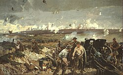 La battaglia di Vimy in un dipinto di Richard Jack (Canadian War Museum)