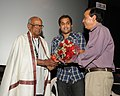 "The Director of the film ""Sri Ramrajya"", Sattiraju Lakshmi Narayana being felicitated by the Chief Secretary of Goa, Shri Sanjay Srivastava at the launching of the film.jpg"