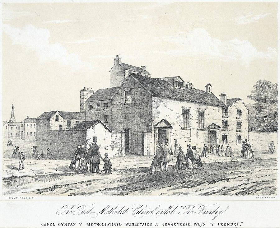 """The First Methodist chapel called """"The Foundry"""" - Capel Cyntaf y Methodistiaid Wesleyaidd a Adnabyddid Wrth """"Y Foundry"""".jpeg"""