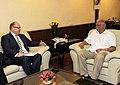 The High Commissioner of New Zealand to India, Mr. Grahame Morton calling on the Union Minister for Civil Aviation, Shri Ashok Gajapathi Raju Pusapati, in New Delhi on September 05, 2014.jpg