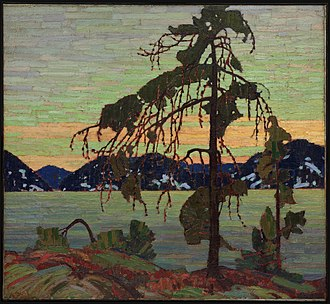 Tom Thomson - The Jack Pine, Winter 1916–17. 127.9 × 139.8 cm. National Gallery of Canada, Ottawa