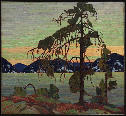The Jack Pine by Tom Thomson. Oil on canvas, 1916, in the collection of the National Gallery of Canada The Jack Pine, by Tom Thomson.jpg