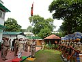 The Minister of State for Minority Affairs (Independent Charge) and Parliamentary Affairs, Shri Mukhtar Abbas Naqvi unfurling the Tricolour flag, on the occasion of 70th Independence Day, in New Delhi on August 15, 2016.jpg