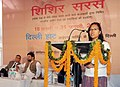 The Minister of State for Rural Development, Ms. Agatha Sangma addressing at the inauguration of the Shishir Saras Mela – 2011, in New Delhi on January 19, 2011.jpg