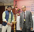 """The Minister of State for Urban Development, Housing and Urban Poverty Alleviation, Shri Babul Supriyo lighting the lamp to inaugurate the Workshop on """"Human Settlements-Planning & Design"""", in New Delhi on June 24, 2016.jpg"""