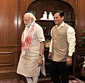 The Minister of State for Youth Affairs and Sports (Independent Charge), Shri Sarbananda Sonowal calls on the Prime Minister, Shri Narendra Modi, in New Delhi on May 21, 2016 (1).jpg