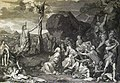 The Phillip Medhurst Picture Torah 570. The Israelites bitten by fiery serpents. Numbers cap 21 vv 6-9. Le Brun.jpg