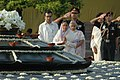 The President, Smt. Pratibha Patil paying homage at 'Vir Bhoomi' the Samadhi of Former Prime Minister, Late Rajiv Gandhi on his 63rd birth anniversary, in Delhi on August 20, 2007.jpg