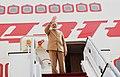 The Prime Minister, Shri Narendra Modi emplanes for Abu Dhabi from Amman, Jordan on February 10, 2018 (2).jpg