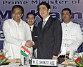 The Prime Minister of Japan, Mr. Shinzo Abe with the Union Minister for Commerce & Industry, Shri Kamal Nath at a Luncheon Business Meeting, organised by FICCI, CII and ASSOCHAM, in New Delhi on August 22, 2007.jpg