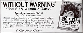 <i>The Story Without a Name</i> 1924 film by Irvin Willat