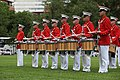 The U.S. Marine Drum and Bugle Corps performs during the Sunset Parade June 5, 2012, at the Marine Corps War Memorial in Arlington, Va 120605-M-KS211-202.jpg