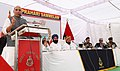 The Union Home Minister, Shri Rajnath Singh addressing the Prahari Sammelan at the Joint Check-Post (JCP) Hussainiwala border, in Ferozepur district, Punjab.jpg