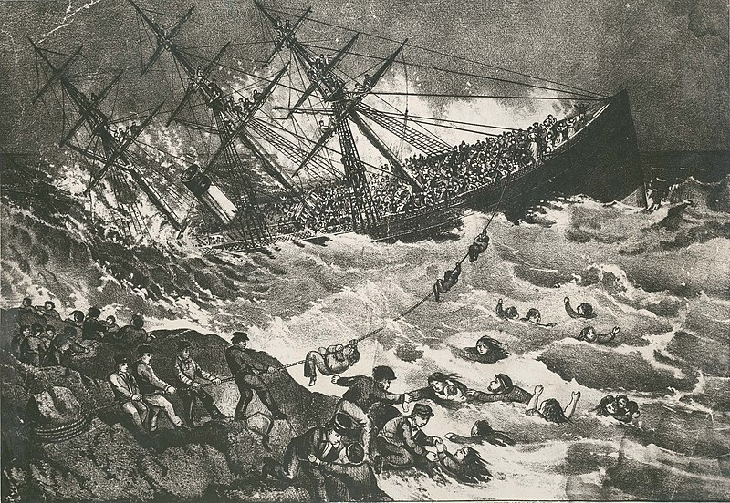 Fichier:The Wreck of the Atlantic, lithograph, Currier and Ives, 1873.jpg