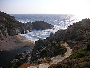 Nas (Ikaria) - The bay at Nas in rough weather
