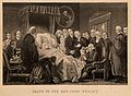 The death-bed of John Wesley, 1791. Process print after an a Wellcome V0006951.jpg