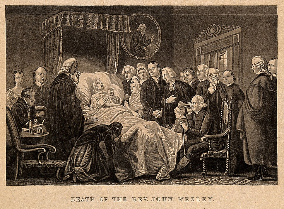 The death-bed of John Wesley, 1791. Process print after an a Wellcome V0006951