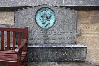 Aeneas James George Mackay - The grave of Aeneas J G Mackay, St Johns Churchyard, Princes Street, Edinburgh