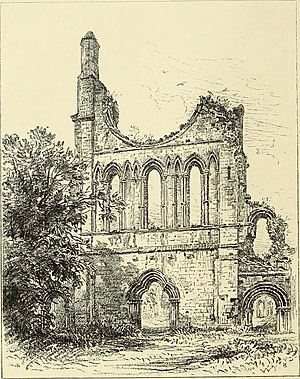 Byland Abbey - Image: The ruined abbeys of Yorkshire (1883) (14776819444)