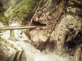 The rushing torrent at Baiyang waterfall (12608546753).jpg